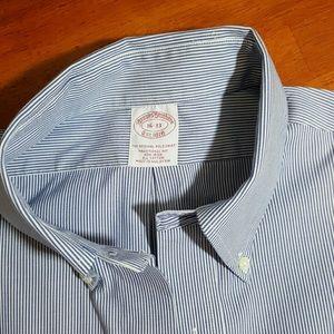 Brooks Brothers Shirts - EUC Brooks Brothers Striped Non Iron Shirt 16/33